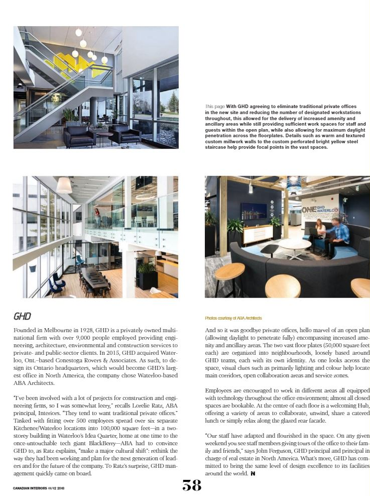 December 2018_GHD Featured in Canadian Interiors Magazine